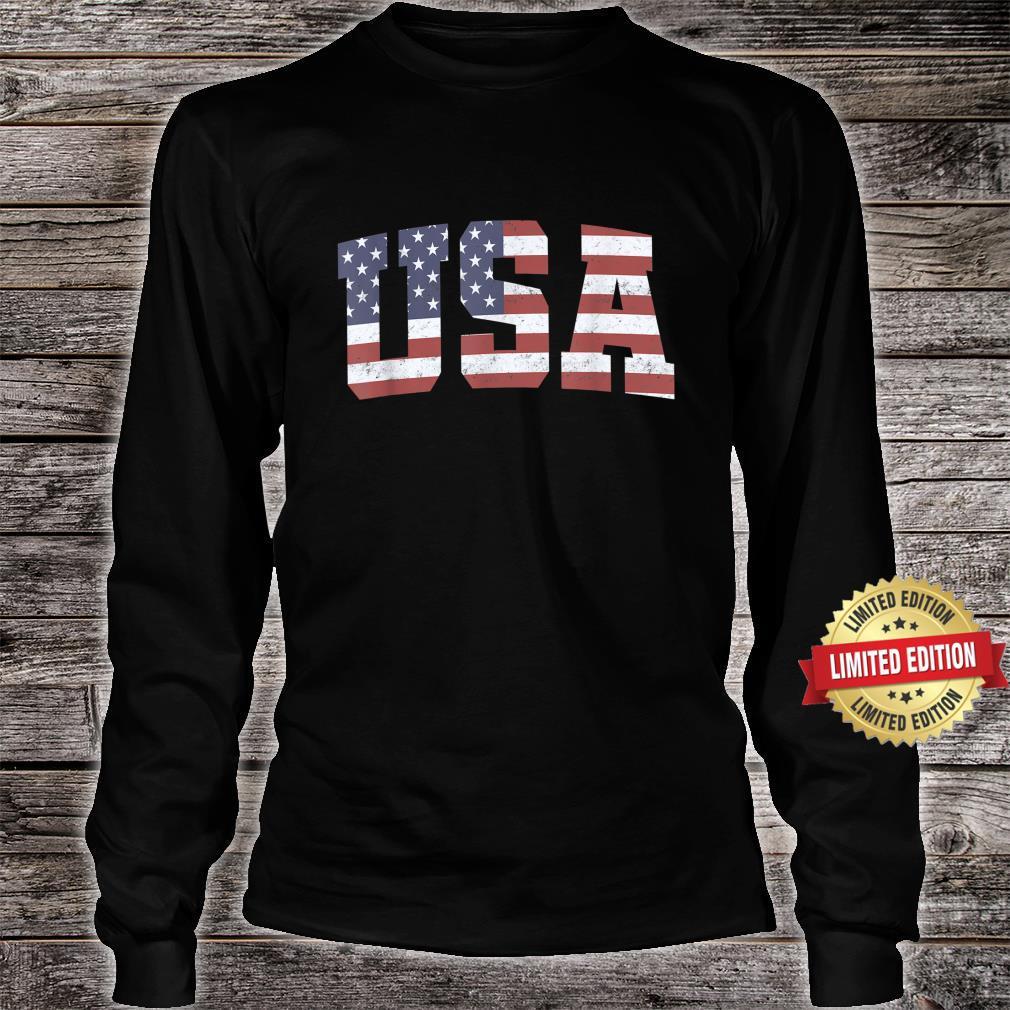American Flag USA Patriotic 4th Of July Shirt long sleeved