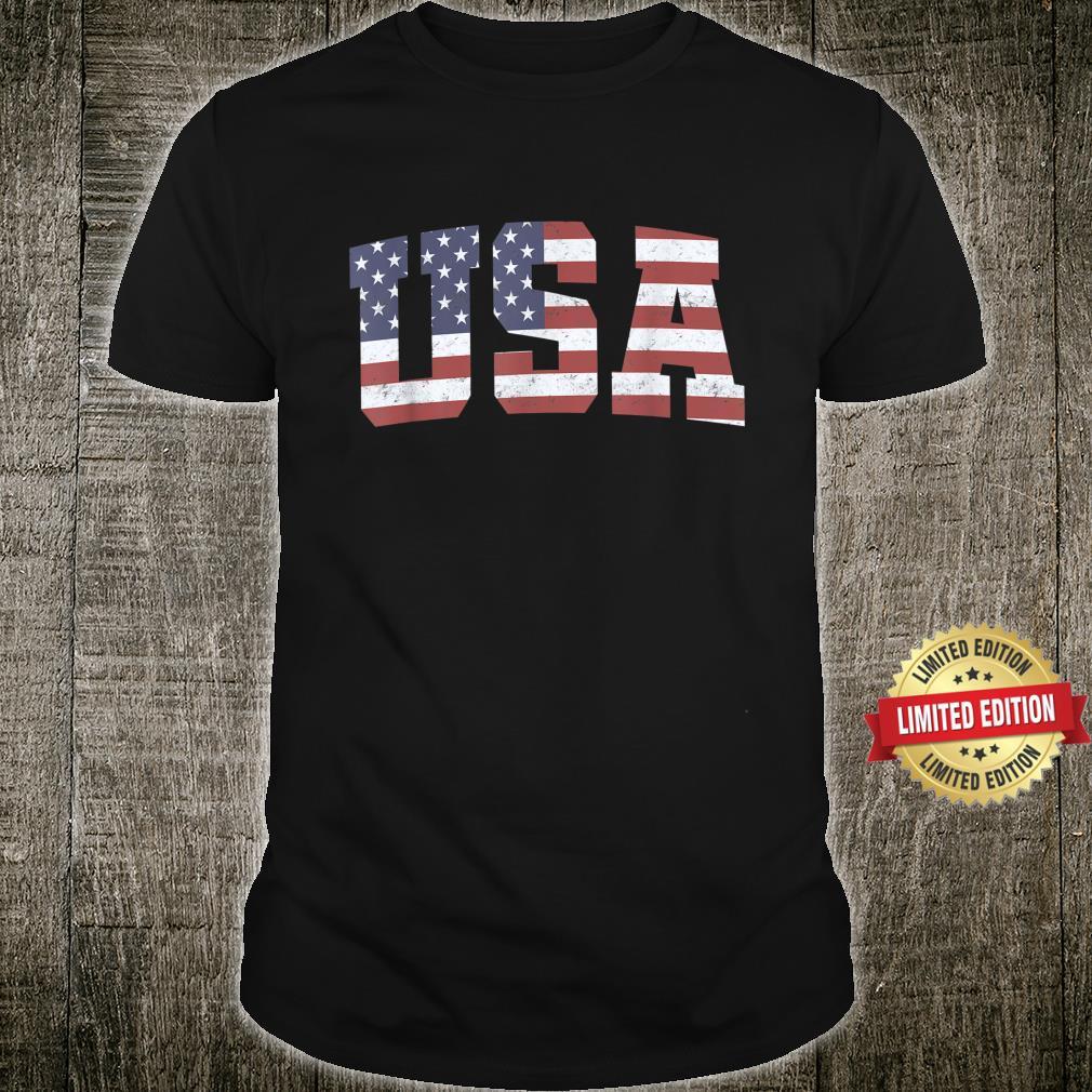 American Flag USA Patriotic 4th Of July Shirt