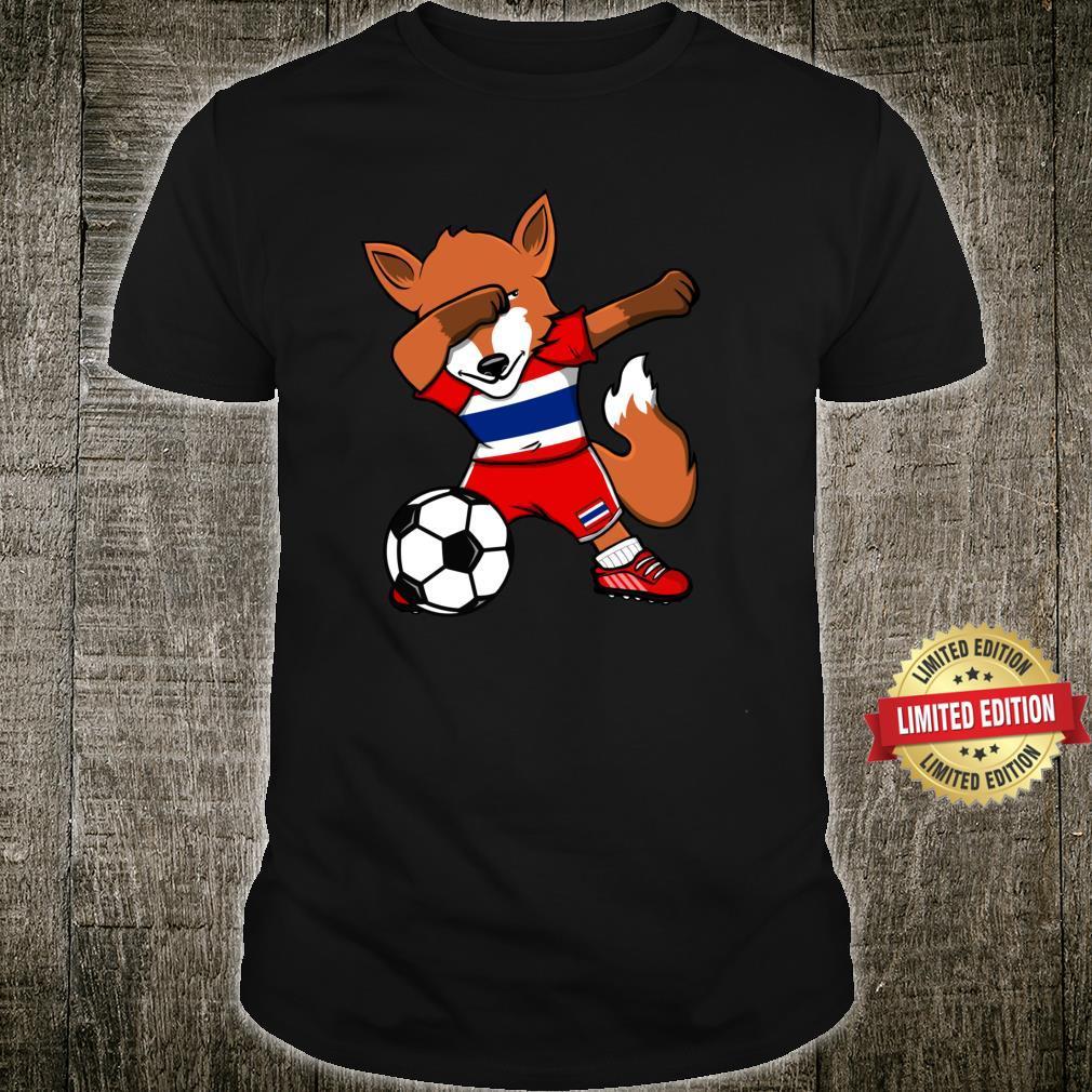 Dabbing Fox Thailand Soccer Fans Jersey Thai Footballs Shirt