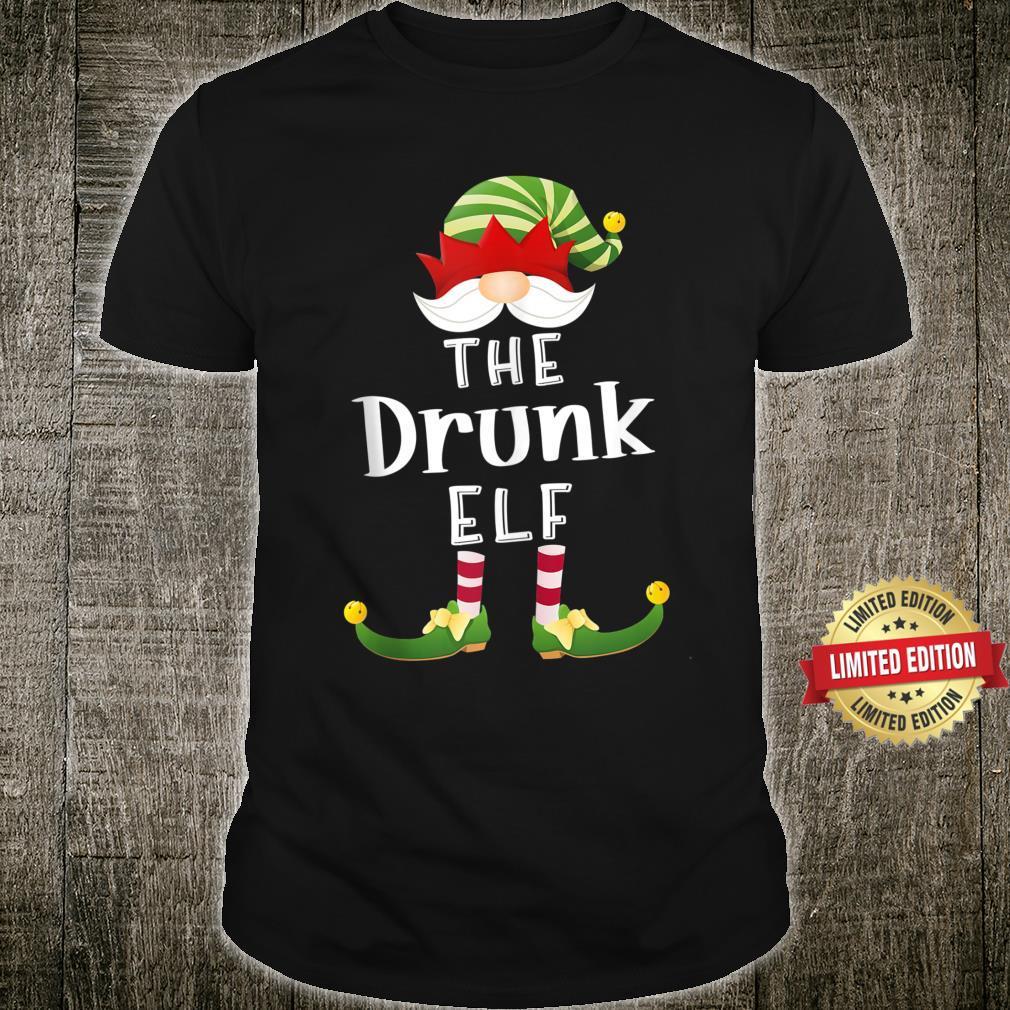 Drunk Elf Group Christmas Pajama Party Shirt