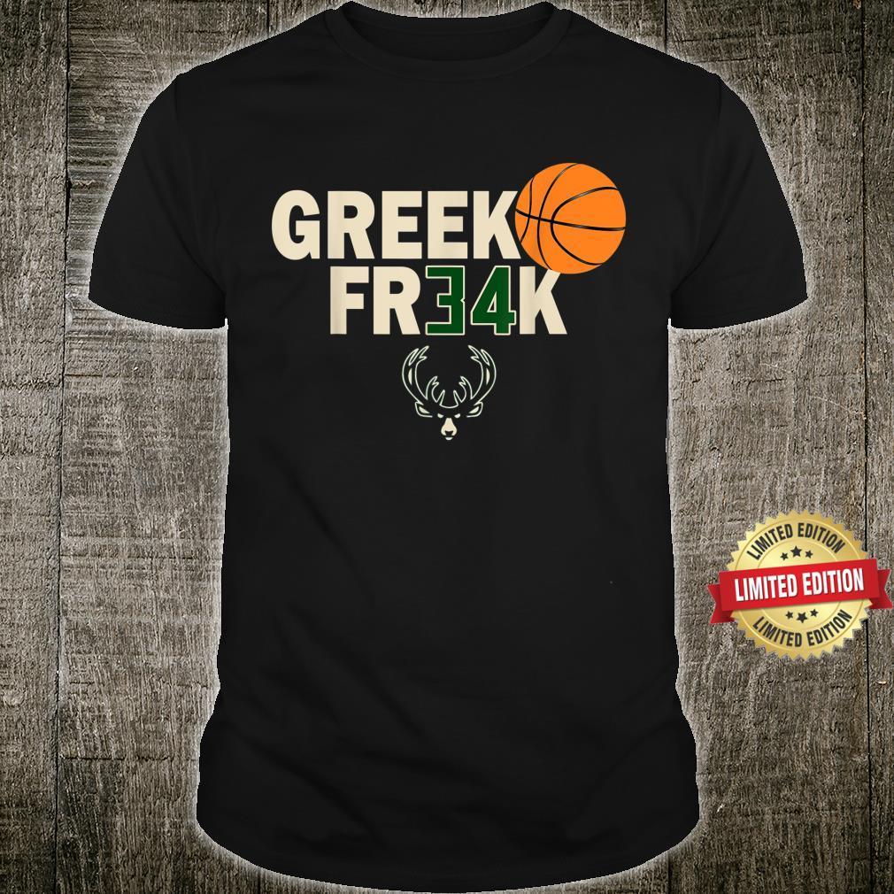GREEK FR34K Milwaukee FreakGreek Wisconsin Basketball Shirt