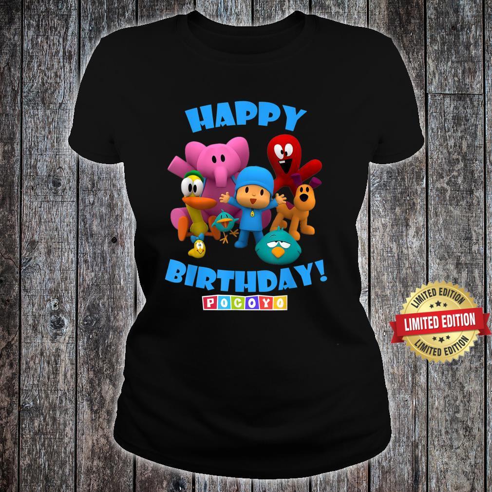 Happy Birthday Boy Girl Pocoyo Shirt ladies tee