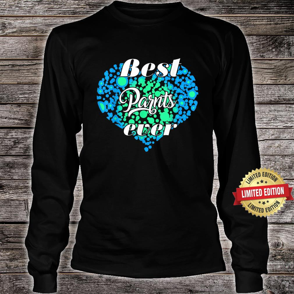 Heart best parents ever for parents cool Shirt long sleeved