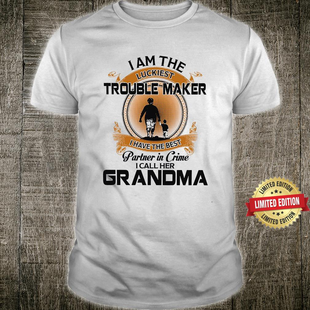 I Am The Luckiest For Grandson From Grandma Shirt