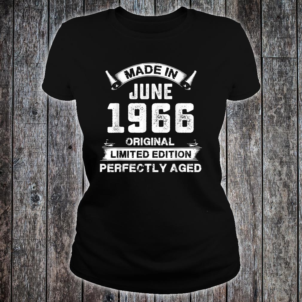 Made In June 1966 55th Birthday For 55 Years Old Shirt ladies tee