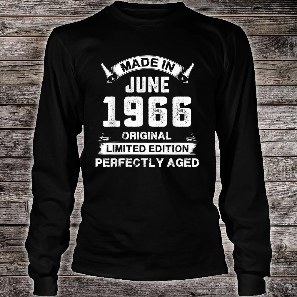 Made In June 1966 55th Birthday For 55 Years Old Shirt long sleeved