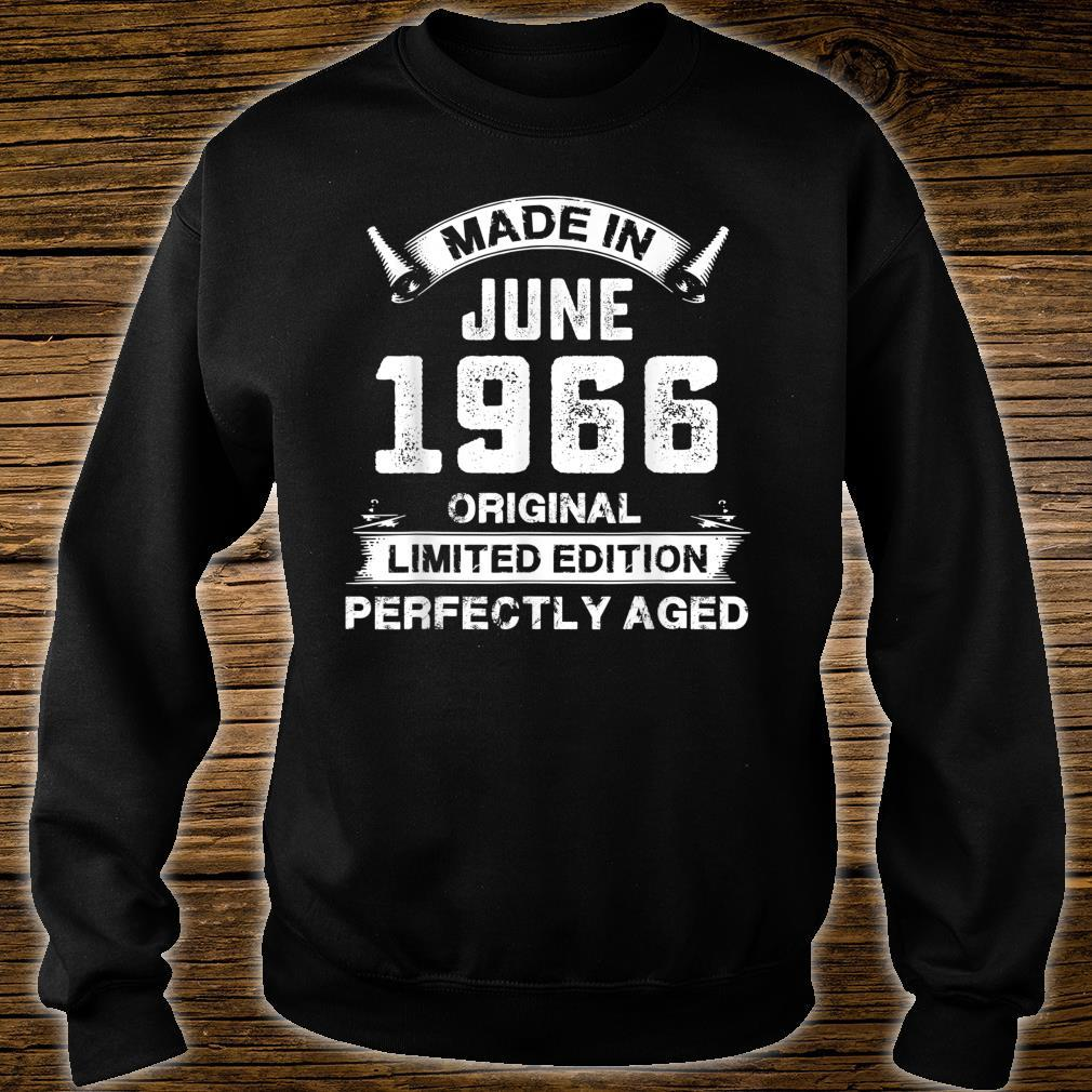 Made In June 1966 55th Birthday For 55 Years Old Shirt sweater