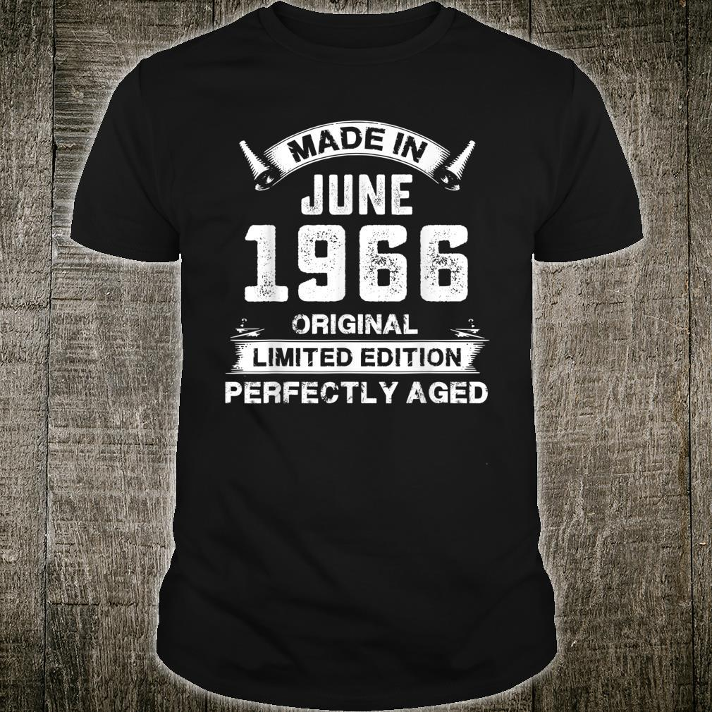 Made In June 1966 55th Birthday For 55 Years Old Shirt