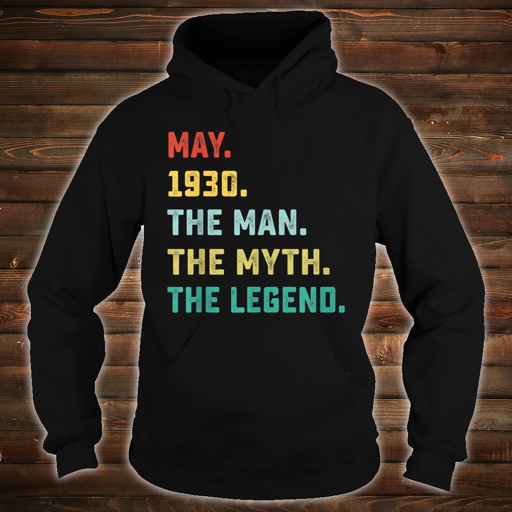 May 1930 The Man Myth Legend Shirt hoodie