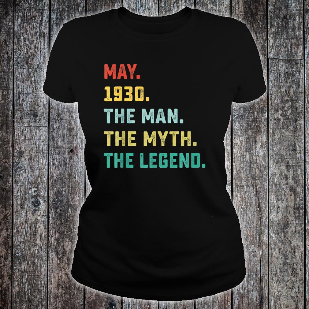 May 1930 The Man Myth Legend Shirt ladies tee