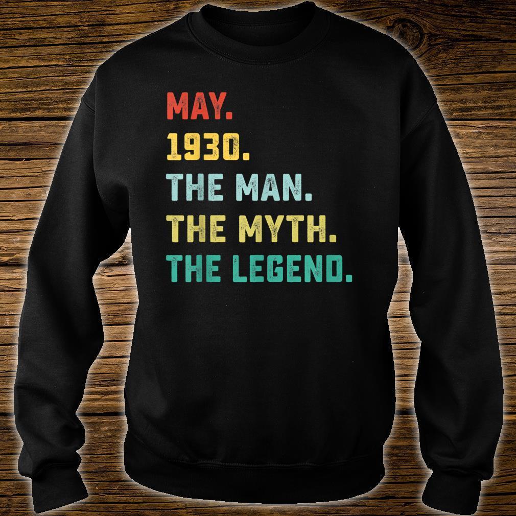 May 1930 The Man Myth Legend Shirt sweater