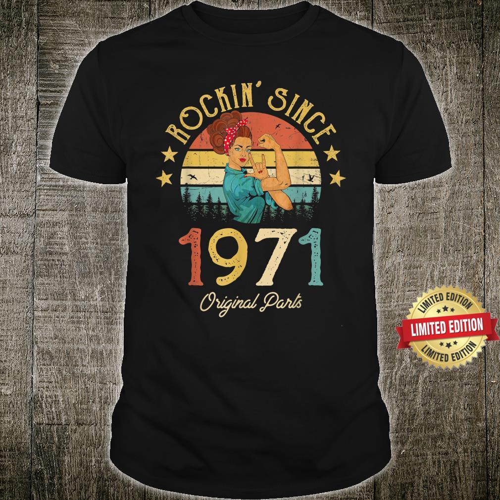 Vintage 1971 Rockin Sine 50th Birthday 50 Years Old Shirt