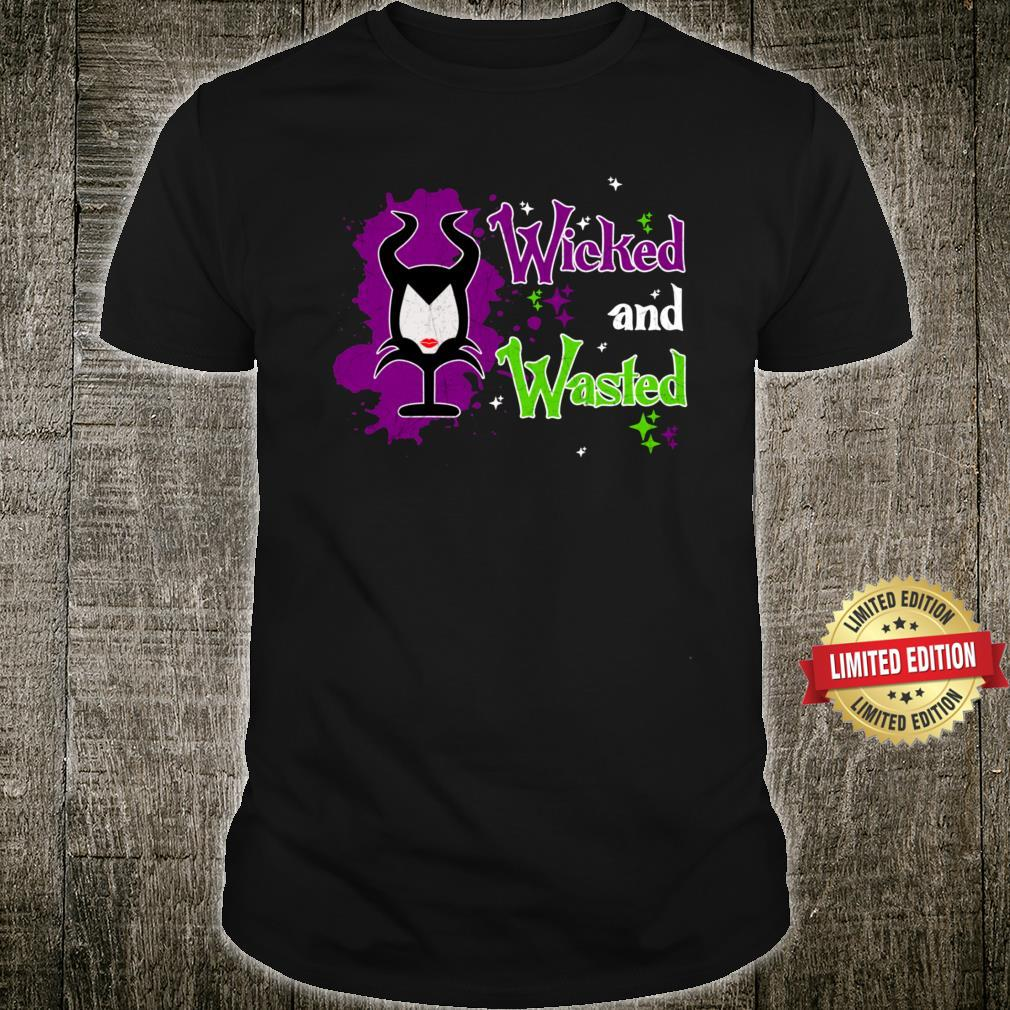 Wicked And Wasted Wine Glass Cellar Party Alcoholic Alcohol Shirt