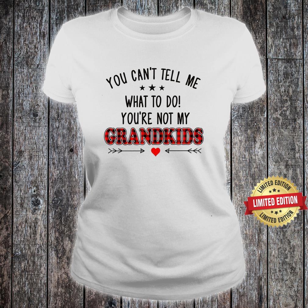 YOU ARE NOT MY GRANDKIDS SHIRT ladies tee