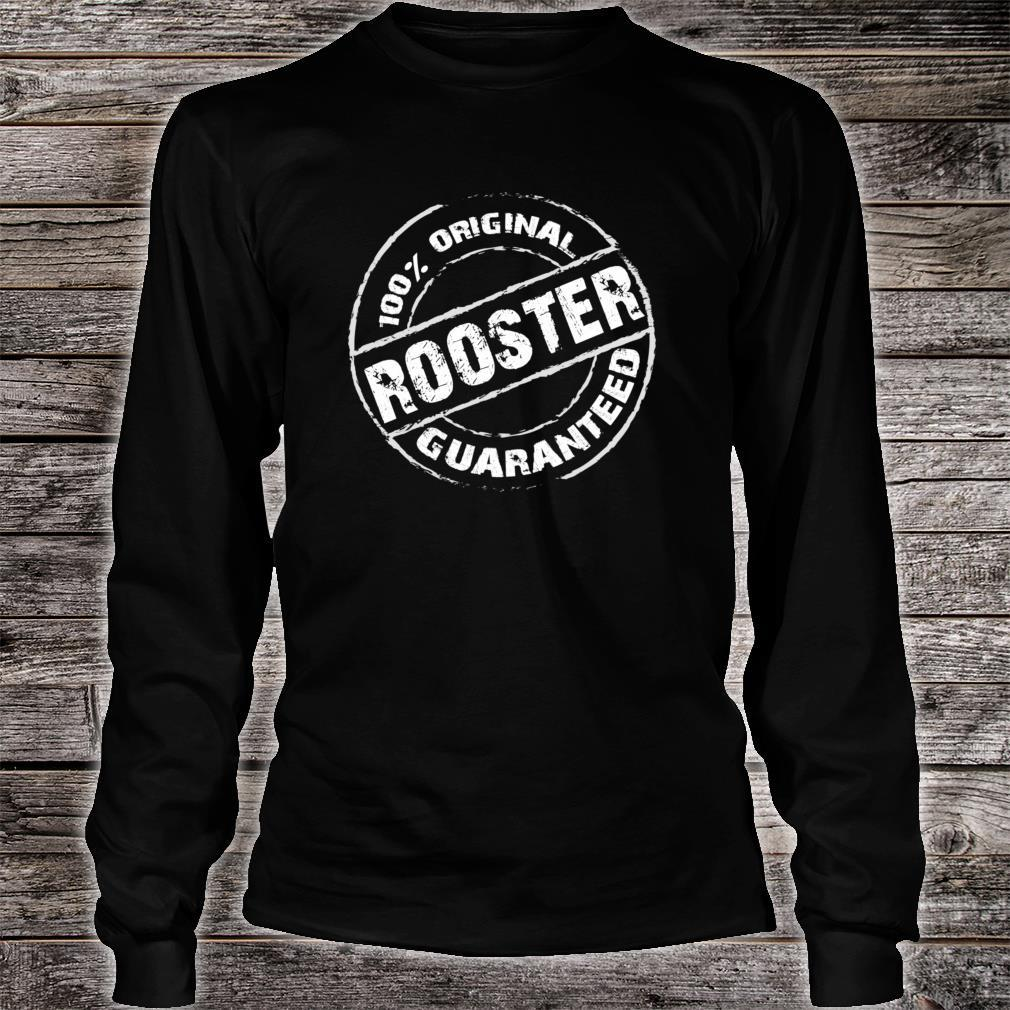 100% Original ROOSTER Guaranteed Design ROOSTERS Shirt long sleeved