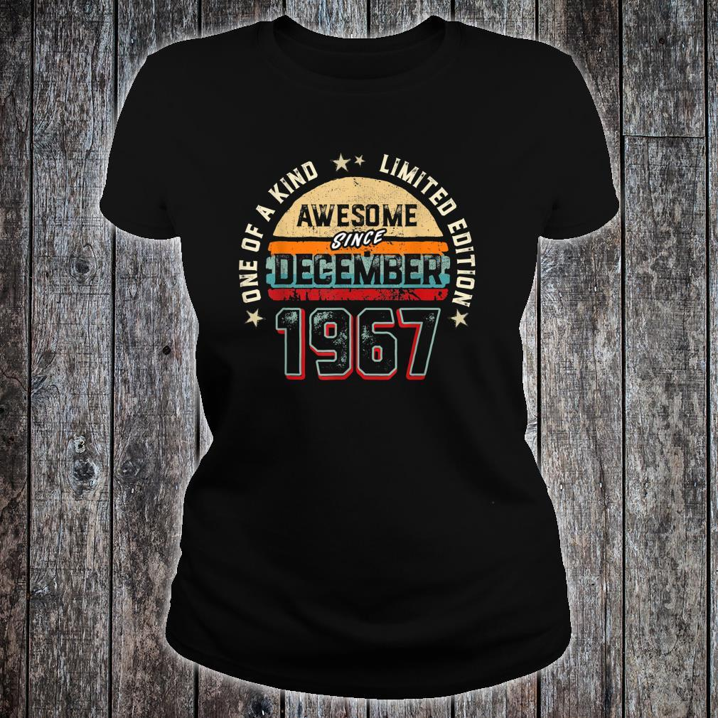 53 Years Old Awesome Since 1967 Shirt ladies tee