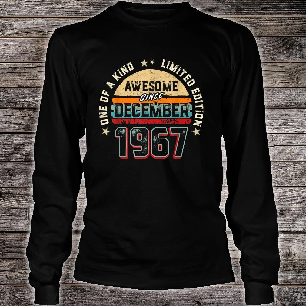 53 Years Old Awesome Since 1967 Shirt long sleeved