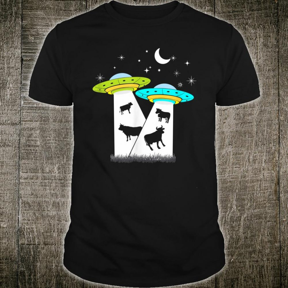 Alien Cow Abduction UFO Area Free the Aliens Shirt