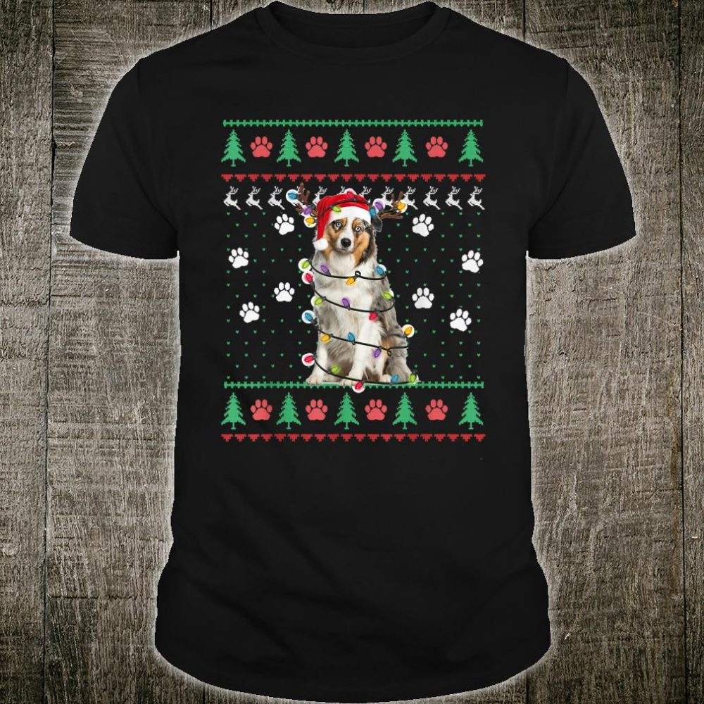 Australian Shepherd Ugly Christmas Sweater Dog Lover Shirt