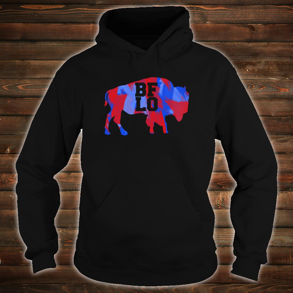 BFLO Buffalo NY Graphic Red And Blue Brush Strokes Shirt hoodie
