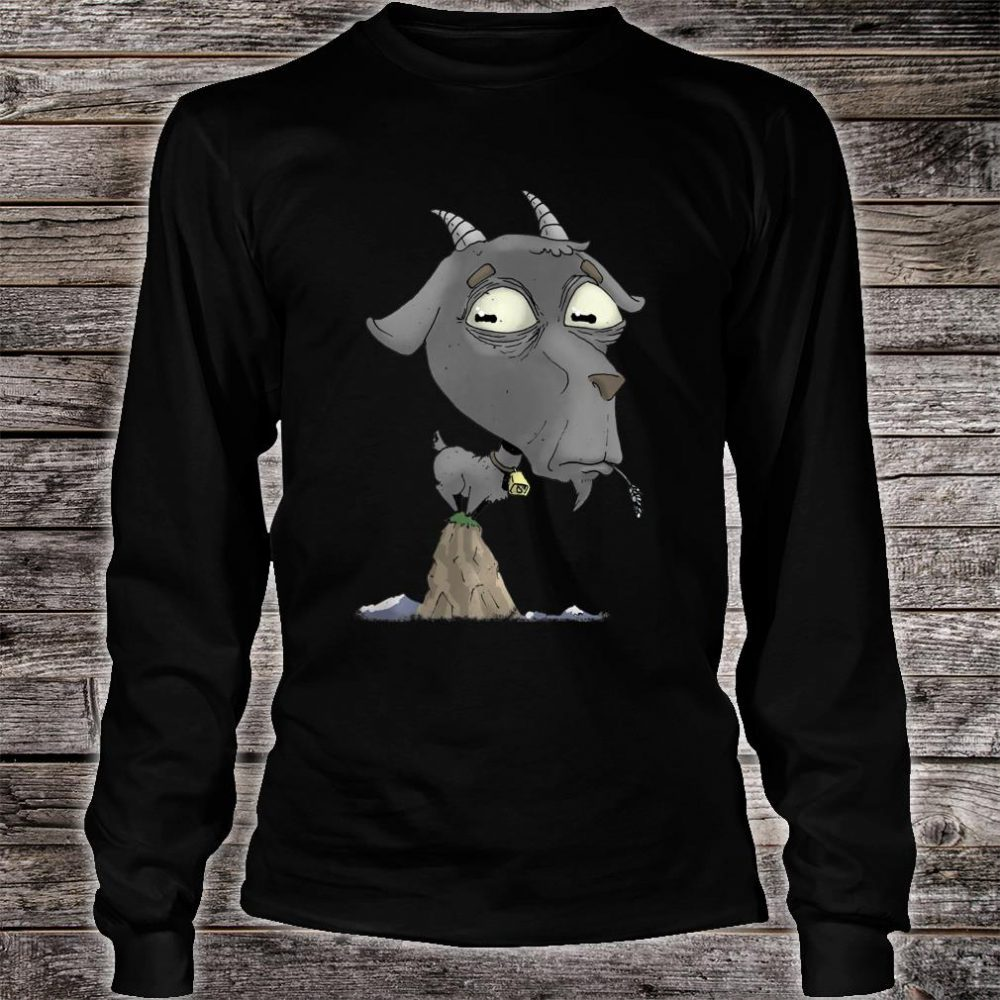 Billy Goat on a Mountain Top Shirt long sleeved