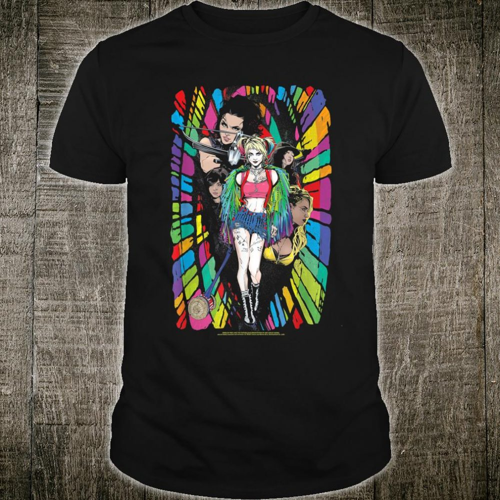 Birds of Prey Harley Quinn Color Corridor Shirt