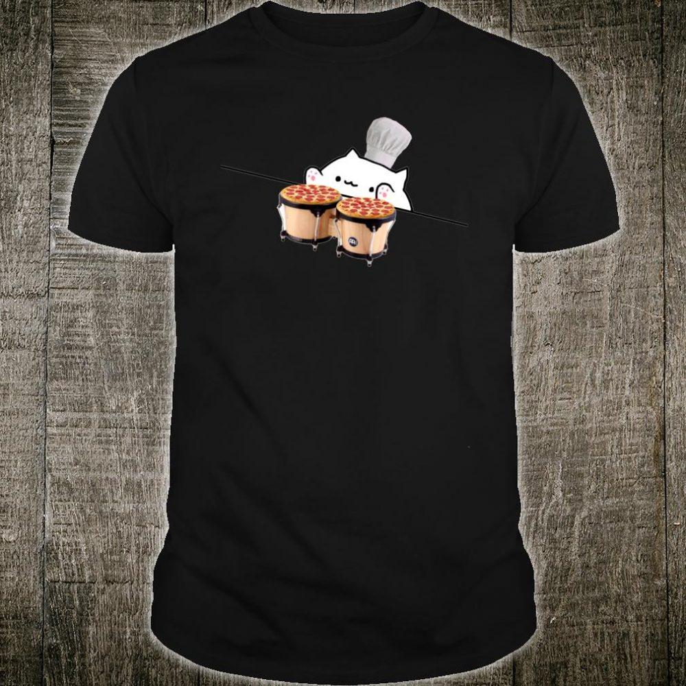 Bongo Cat Pizza Chef Dank Internet Meme Kitty Kitten Shirt
