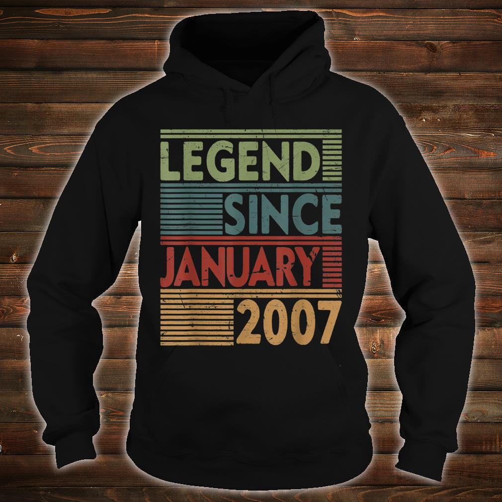 Born In January 2007 Legend 13th Birthday Shirt hoodie