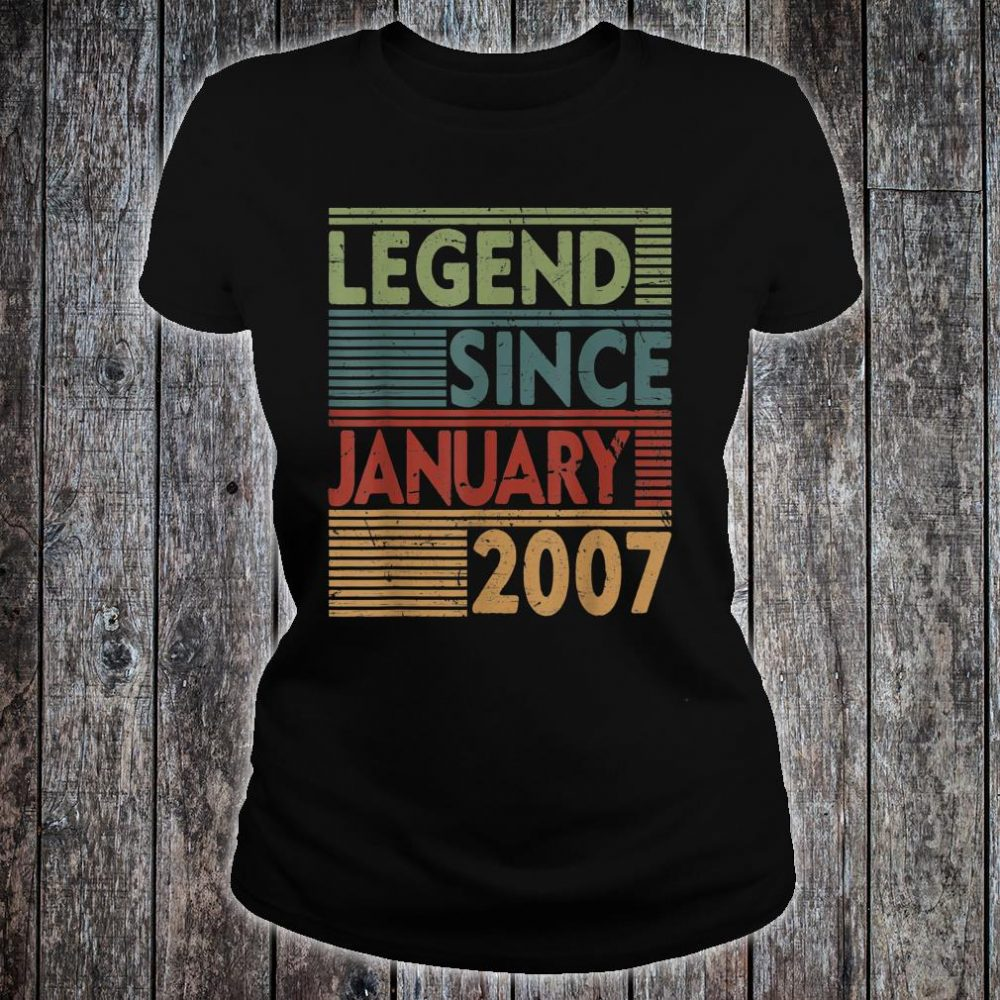 Born In January 2007 Legend 13th Birthday Shirt ladies tee