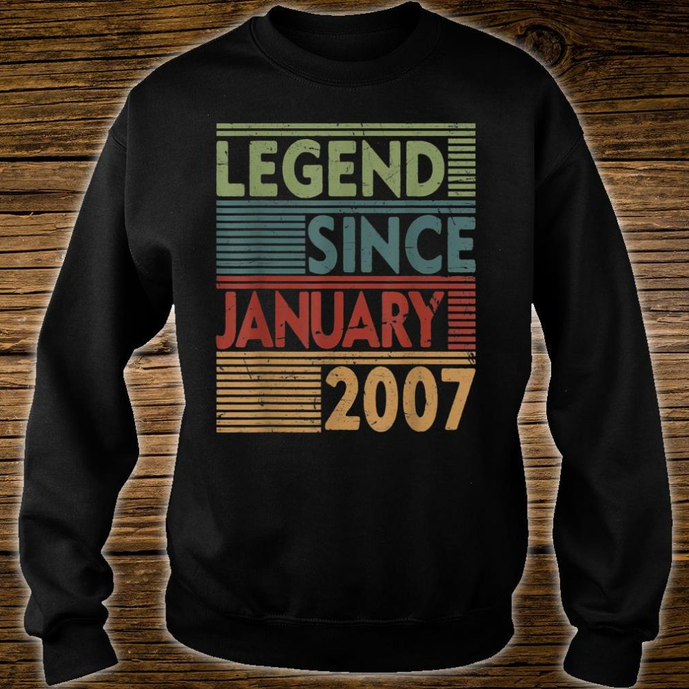 Born In January 2007 Legend 13th Birthday Shirt sweater