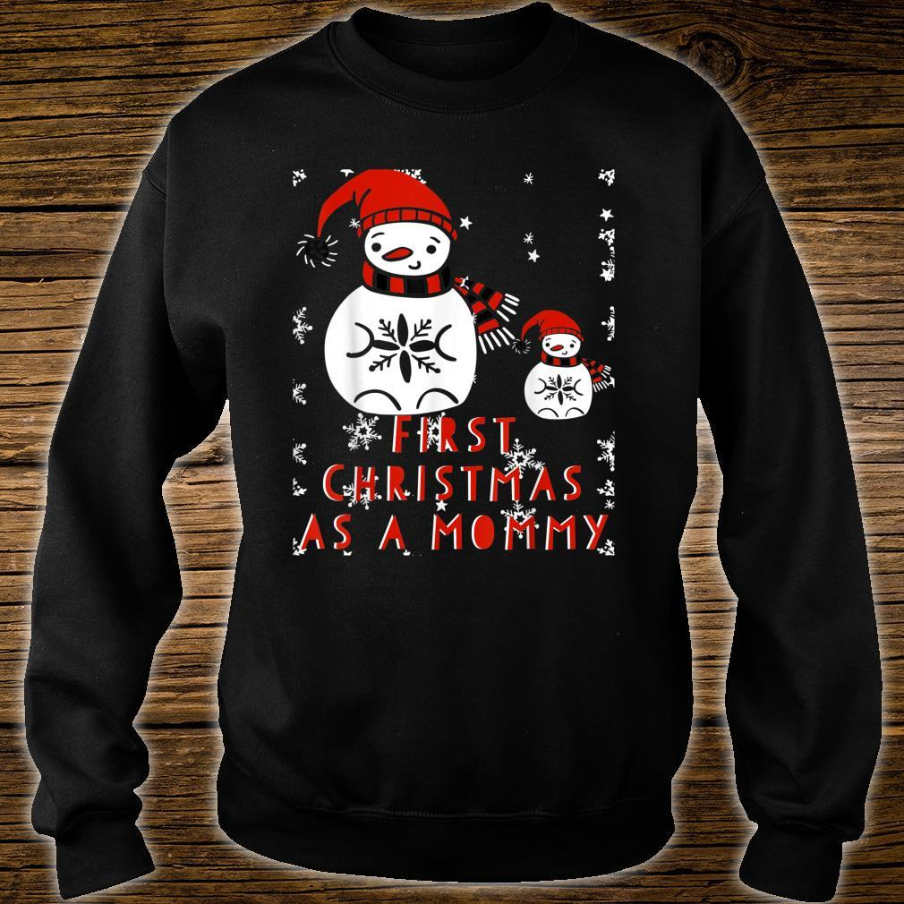 CHRISTMAS First Time Mom New Mommy Pregnant Mama Xmas Shirt sweater