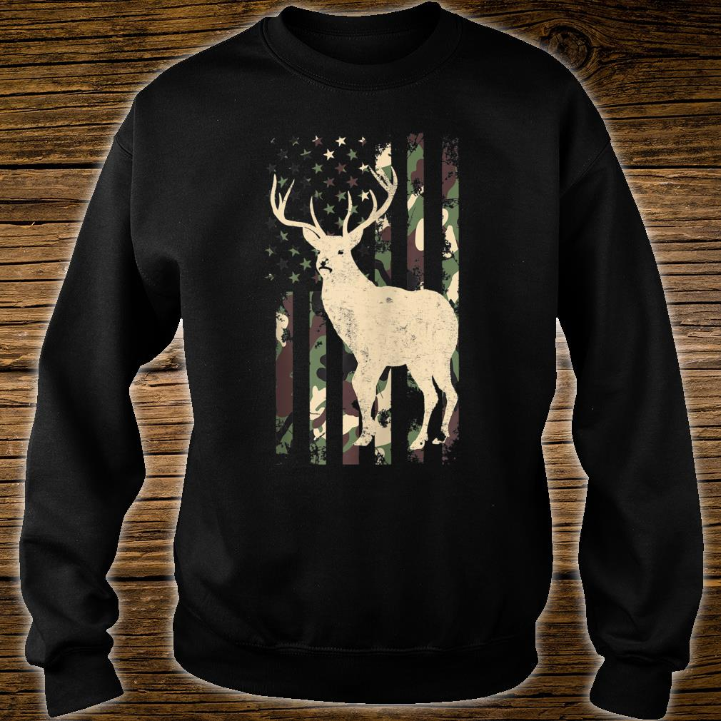 Camouflage American Deer Hunting Shirt sweater
