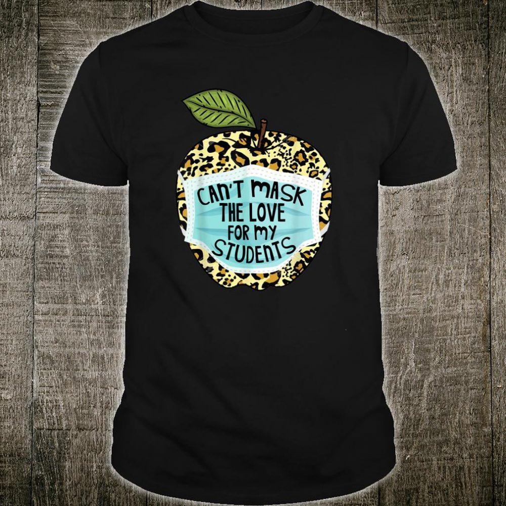 Can't Mask My Love Of Teaching Leopard Plaid Teacher Shirt