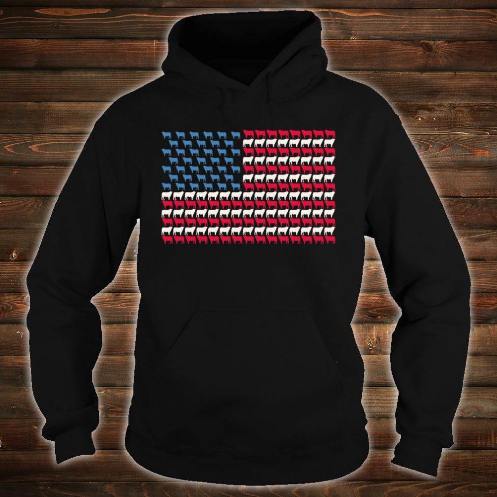 Cattle American Flag Cow US 4th Of July Farmer Bull USA Shirt hoodie