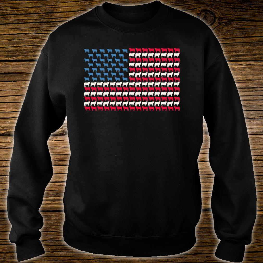 Cattle American Flag Cow US 4th Of July Farmer Bull USA Shirt sweater