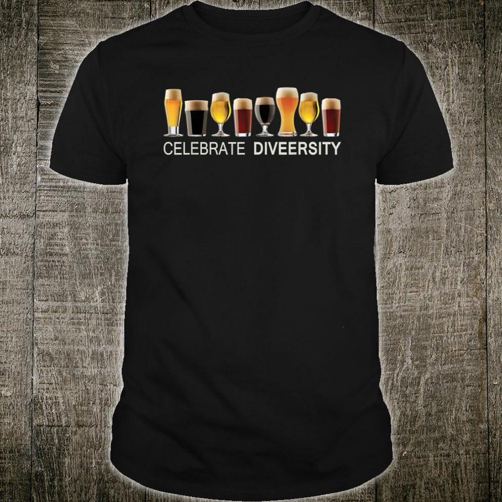 Celebrate Diversity Craft Beer Lover Drinking Shirt