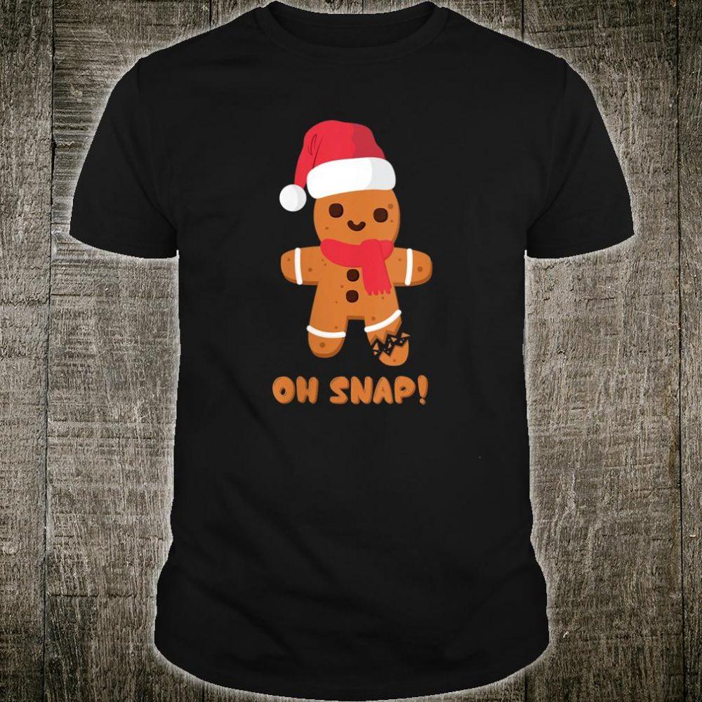 Christmas Gingerbread Teachers Bakers Oh Snap Shirt