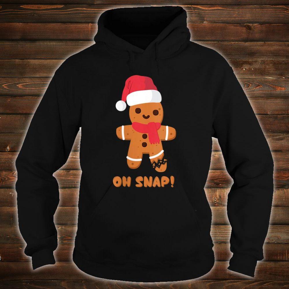 Christmas Gingerbread Teachers Bakers Oh Snap Shirt hoodie