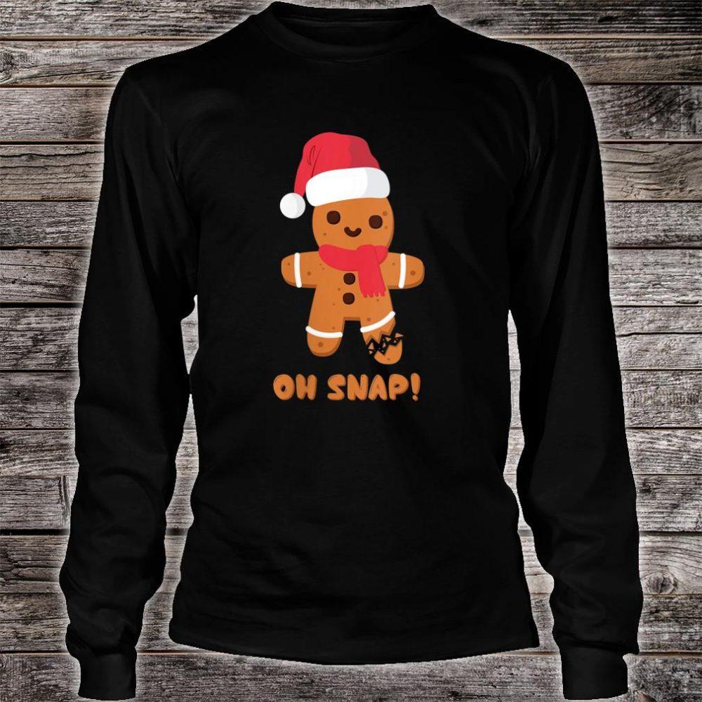 Christmas Gingerbread Teachers Bakers Oh Snap Shirt long sleeved