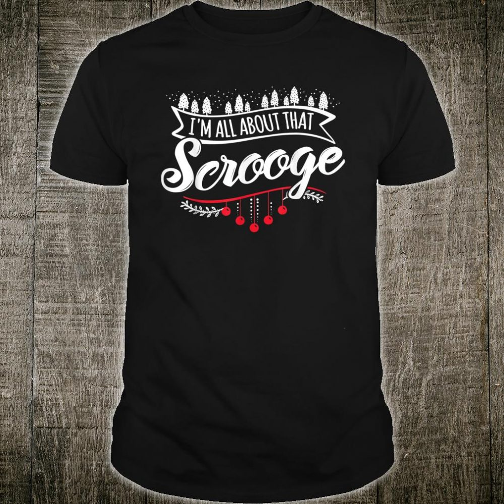 Christmas Tree Lights Ugly Sweater Scrooge Shirt