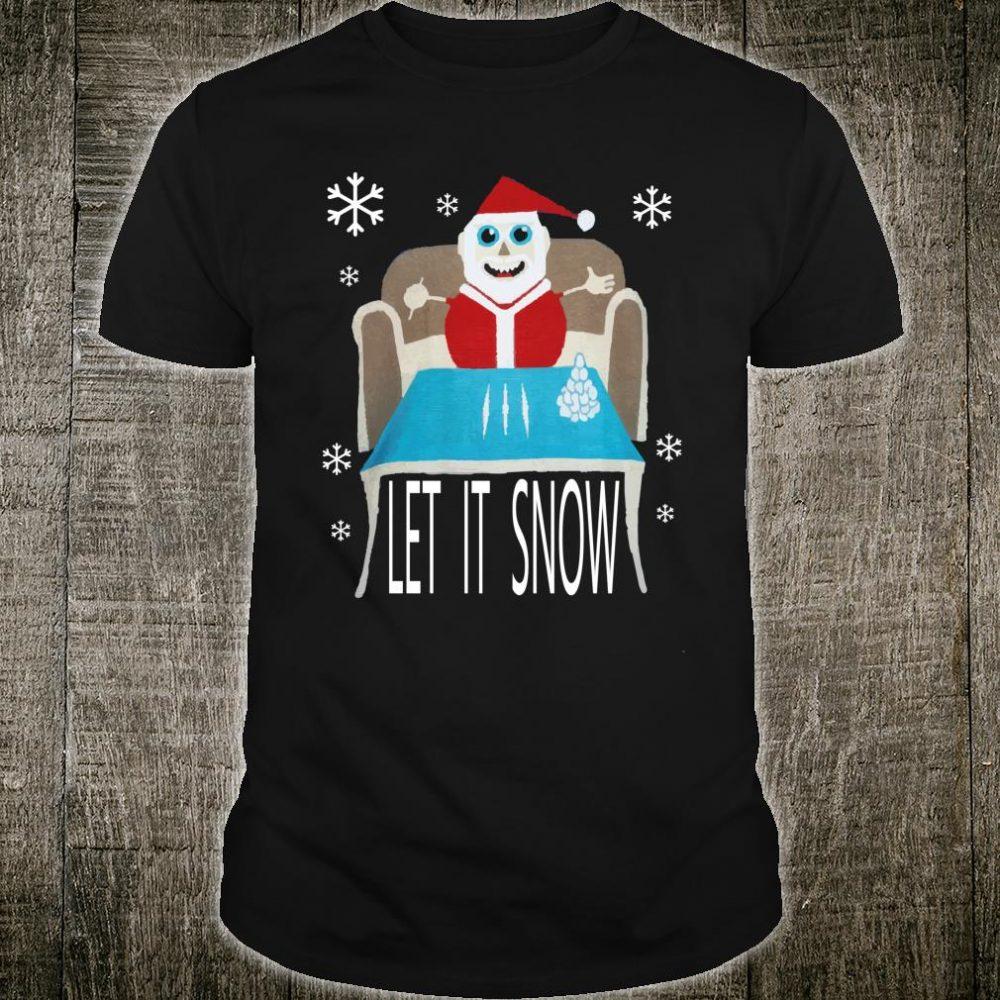 Cocaine Santa let it snow christmas sweater Shirt