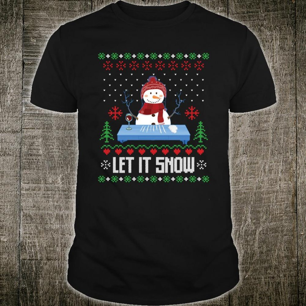 Cocaine Snow Man Let it Snow Shirt.Funny Cool Ugly Christmas Shirt