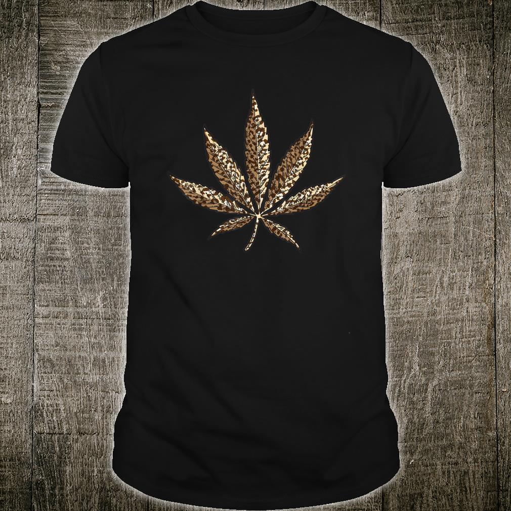 Cool Leopard Print Marijuana Leaf Animal Skin Shirt