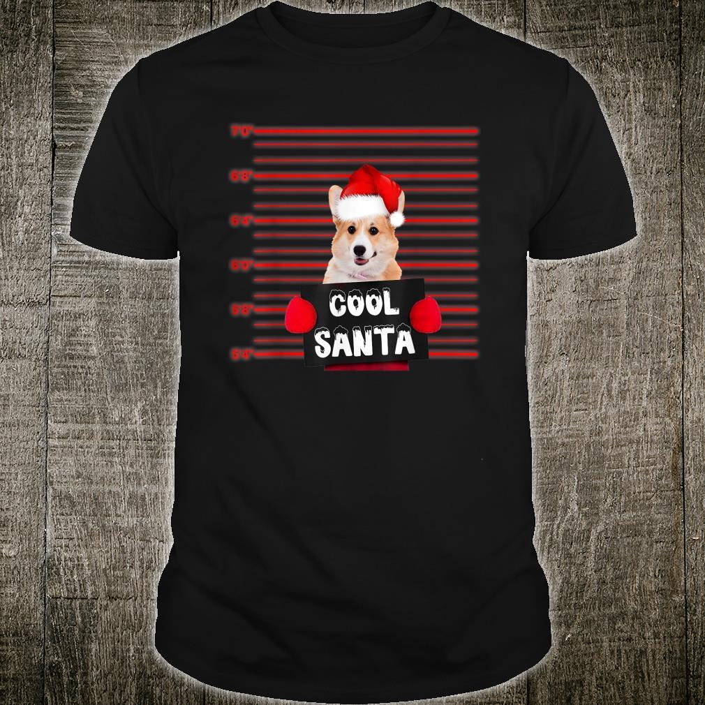Cool Santa Corgi Dog Christmas Shirt