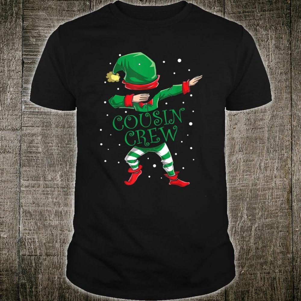 Cousin Crew Dabbing Family Christmas Xmas Shirt