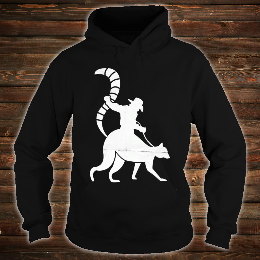 Cowboy Riding a Ring Tailed Lemur of Madagascar Shirt hoodie