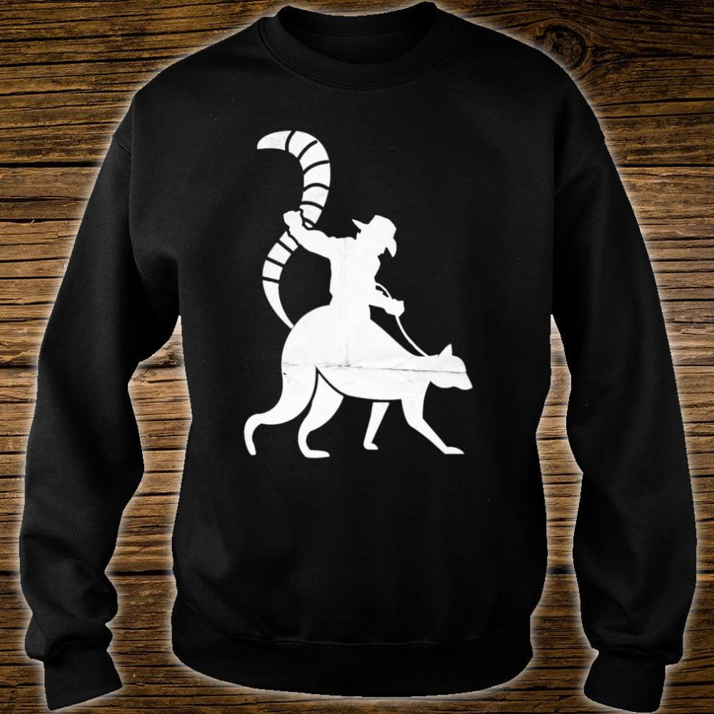 Cowboy Riding a Ring Tailed Lemur of Madagascar Shirt sweater