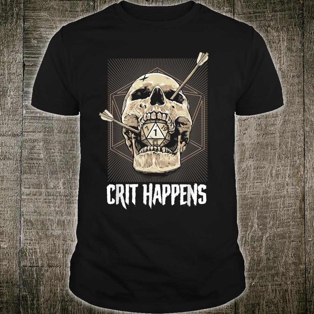 Crit Happens D20 Dice Roll Shirt