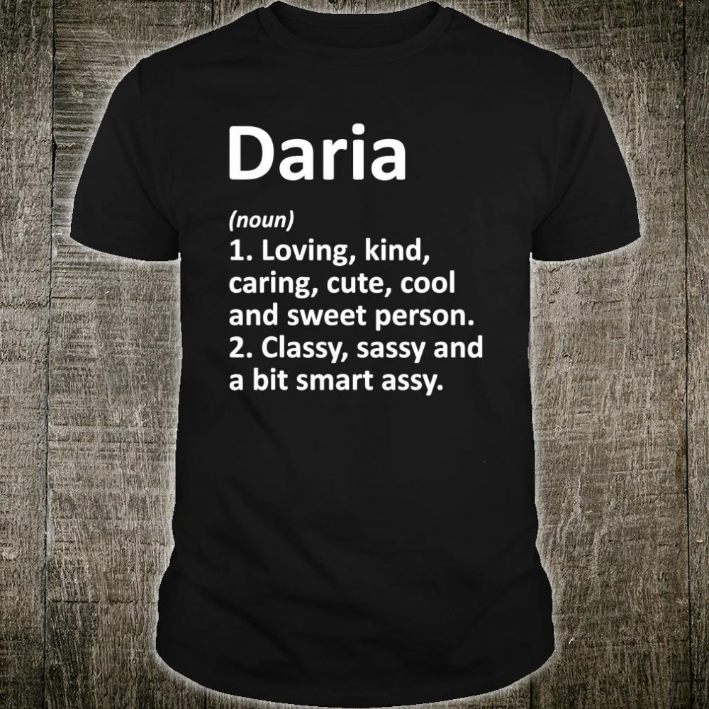 DARIA Definition Personalized Name Shirt