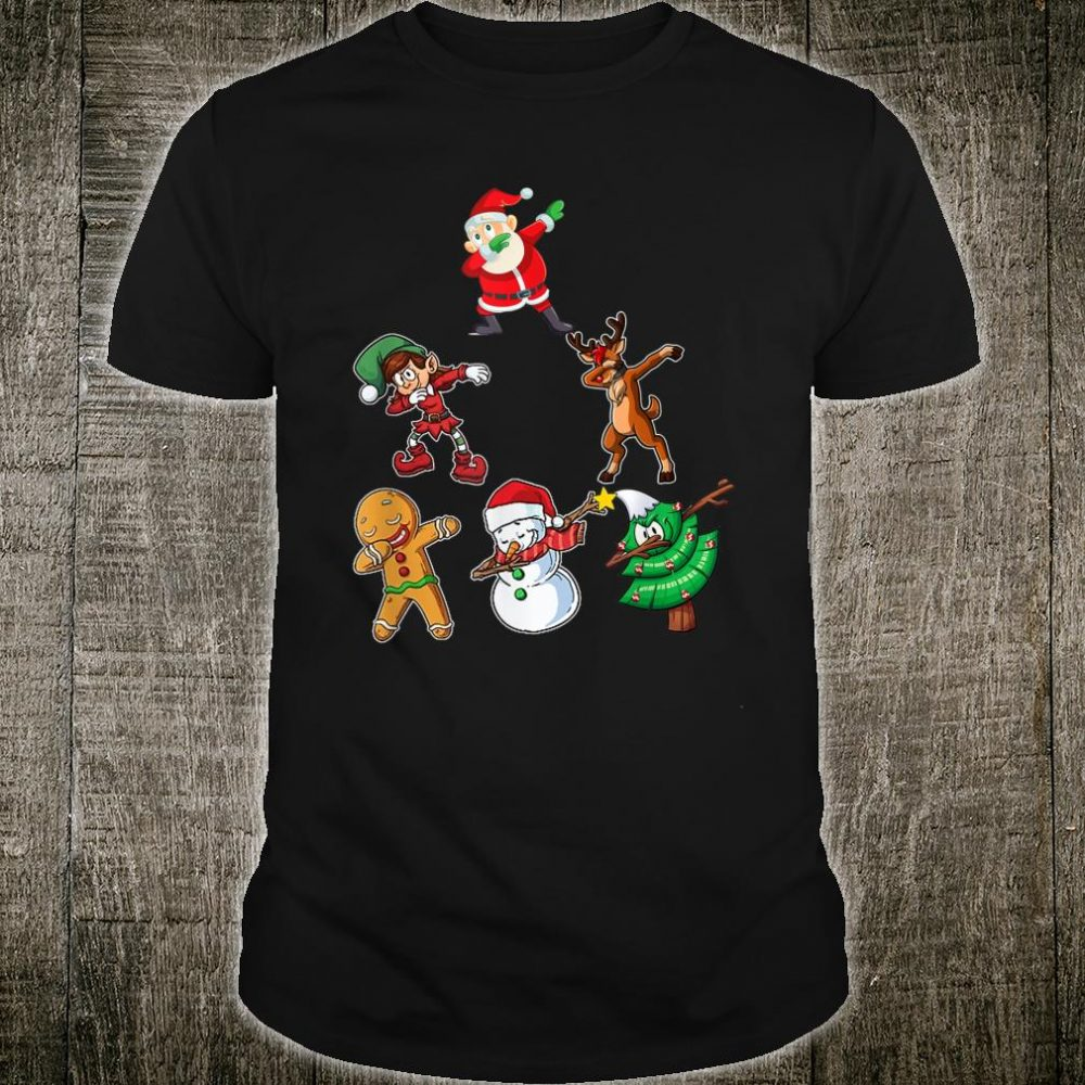 Dabbing Christmas Santa Best Friend Shirt